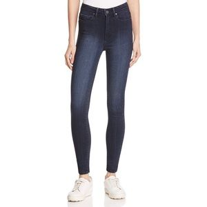 PAIGE - Hoxton Dark Wash Skinny Ankle Jeans - 26